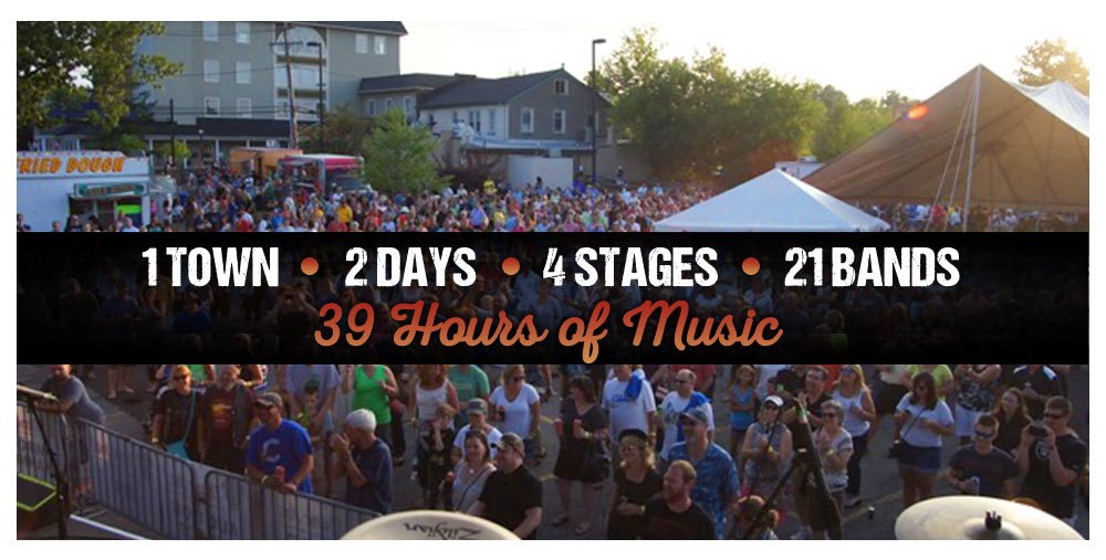 1 Town 2 Days 4 Stages 21 Bands