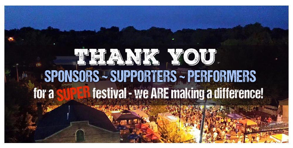 Thank you sponsors, supporter and performers